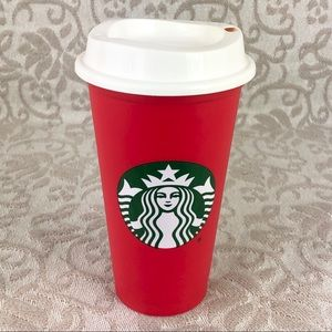 Starbucks Limited Red and White Reusable Hot Cup